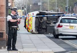 police car crash in park road liverpool echo