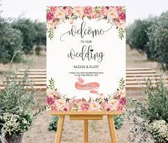 printable wedding welcome sign templates custom wedding sign