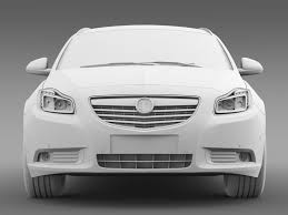 vauxhall insignia white vauxhall insignia 4x4 biturbo sports tourer 2013 by creator 3d