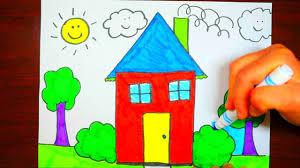 for kids how to draw a house youtube