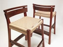 danish bar stools hand crafted walnut mahogany danish cord bar stool by dogwood