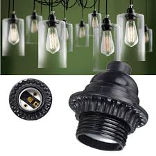 Pendant Light Socket E26 E27 Retro Vintage Light Socket Keyless Hanging Pendant Light