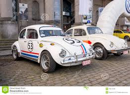 volkswagen beetle classic herbie old fashion vw beetle herbie style restored editorial stock image