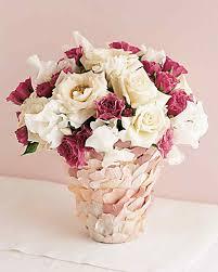 Vase With Roses Rose Petal Vase Martha Stewart