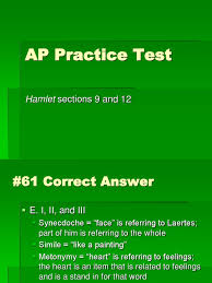 ap applied practice exams 9 12 ppt hamlet plays based on