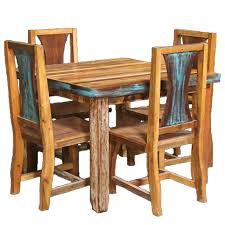 barnwood azul table u0026 chairs 5 pcs