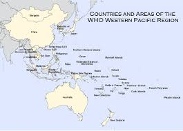 pacific region map wpro countries and areas