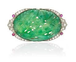 art deco jade diamond and ruby brooch christie u0027s art deco jade