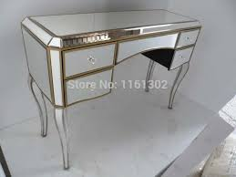 glass vanity table with mirror antique gold rimming mirrored dressing table in dressers from