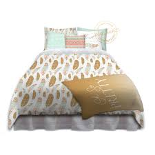 girls college dorm bedding feather print college bedding oh so
