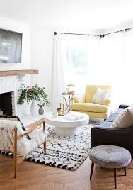 Arm Chairs Living Room Modern Bohemian Meets Midcentury Living Room With A Moroccan Rug