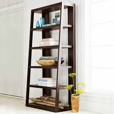 unique ladder book storage idea with vertical shelving inside
