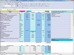 spreadsheet materials cost estimate sheet and create a budget