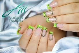 fingern gel design galerie anastasiya gel nail design grün schwarz nageldesign bilder by