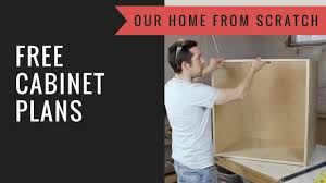 how to build kitchen cabinets free plans free cabinet plans