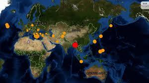 Global Incident Map 7 0 Earthquake Strikes Myanmar Other Global Quake Updates Youtube