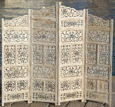 Screens Room Dividers by Paravent 4 Panel Indian Hand Carved Wooden Screen Room Divider Sb