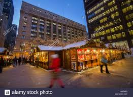 shoppers at chicago german christkindlmarket winter festival open