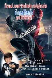 spiderman birthday invitations good vs evil