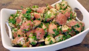 sour cream red potato salad with bacon and scallions grilling