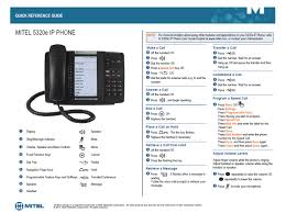 Desk Reference System by Mitel Quick Reference Guide It Help Desk