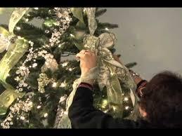 Christmas Tree Ribbon Decorating Decorate You Christmas Tree With Ribbon Condensed Version Youtube