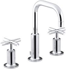 Bathroom Sink Handles Kohler Purist Widespread Bathroom Sink Faucet With Low Cross