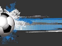football or soccer ball powerpoint templates aqua cyan black