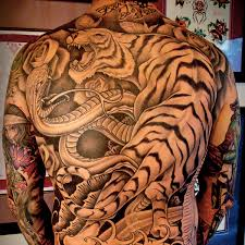 on my back 25 tiger back on tattoochief com