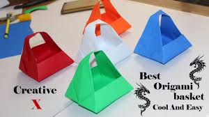 origami paper basket how to make easy paper basket for gifts