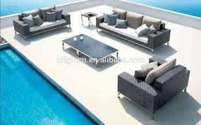 Modern Stylish    Sofa Set Designs With Aluminum Legs Resin - Modern outdoor sofa sets 2