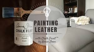 Paint On Leather Sofa Painting Leather With Chalk Paint By Sloan Part 1 Rowe
