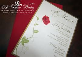 Single Invitation Cards Sweet Sixteen Invitations U2013 A Vibrant Wedding