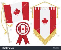 canada flag rosette pennant isolated on stock vector 106756712
