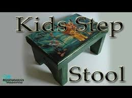 how to make a kids step stool youtube