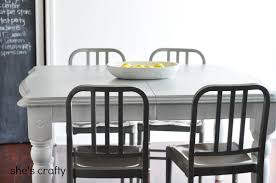 Shes Crafty Gray And White Painted Kitchen Table - Painting kitchen table