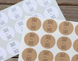 save the date stickers rustic envelope seal etsy