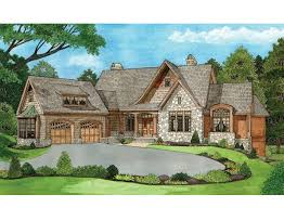 craftsman style ranch homes slope house plans with bat walkout luxihome basement craftsman