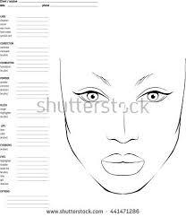 makeup for makeup artists chart makeup artist blank template stock vector 441471268
