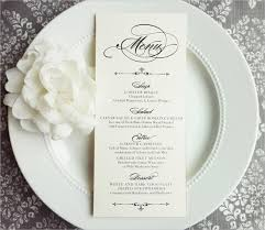 wedding menu templates 23 wedding menu templates free sle exle format