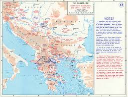 Map O Map Of The Invasion Of Yugoslavia And Greece April 1941