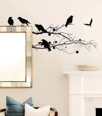halloween giant wall decal spooky eyeballs wall sticker removable full size of decoration adorable halloween wall decal crows on branch design spider web black