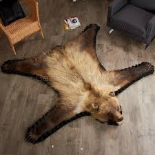 Taxidermy Bear Rug Majestic Looking Grizzly Bear Rug Unique Design Grizzly Bear Rugs