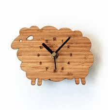 horloges cuisine bambou bois couleur moutons pastorale d agneau réfrigérateur
