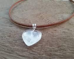 quartz rock necklace images Rock crystal jewelry etsy jpg