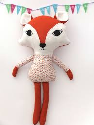 pdf sewing pattern fox stuffed animal fox plush toy pattern free