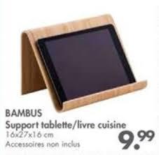 porte livre de cuisine casa promotion bambus support tablette livre cuisine produit
