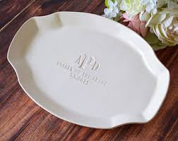 personalized ceramic platter personalized platter etsy