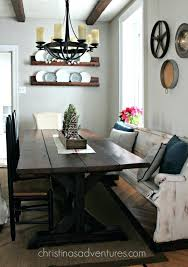 Triangle Dining Table With Bench Farm Style Dining Room Table With Bench Farmhouse And Chairs Sale