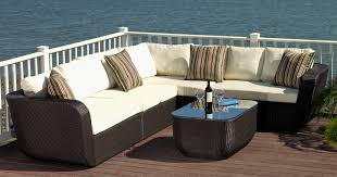 Patio Fence Ideas by Furniture L Shaped Patio Furniture With Green Pillows Ideas And
